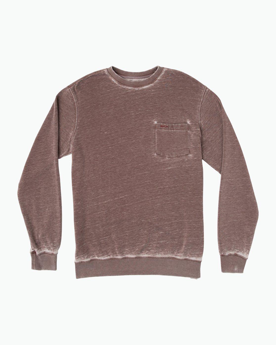 0 Barrel Pocket Crew Sweatshirt Red M643SRBL RVCA