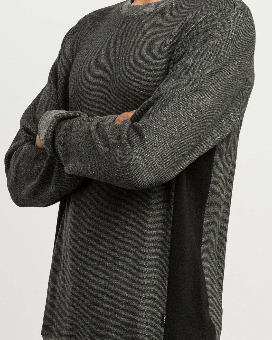 4 Milo Colorblocked Sweatshirt Black M645SRMS RVCA