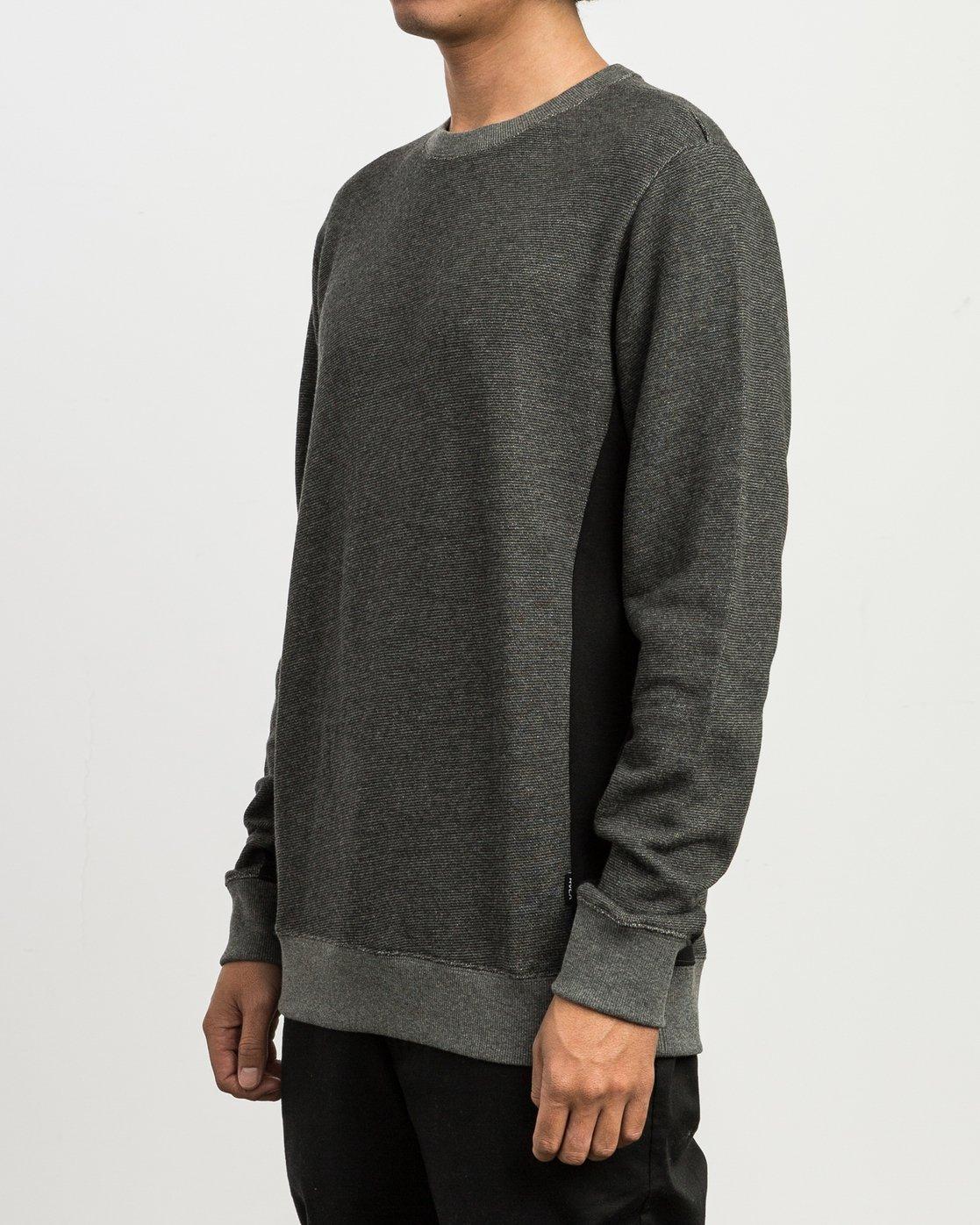 2 Milo Colorblocked Sweatshirt Black M645SRMS RVCA