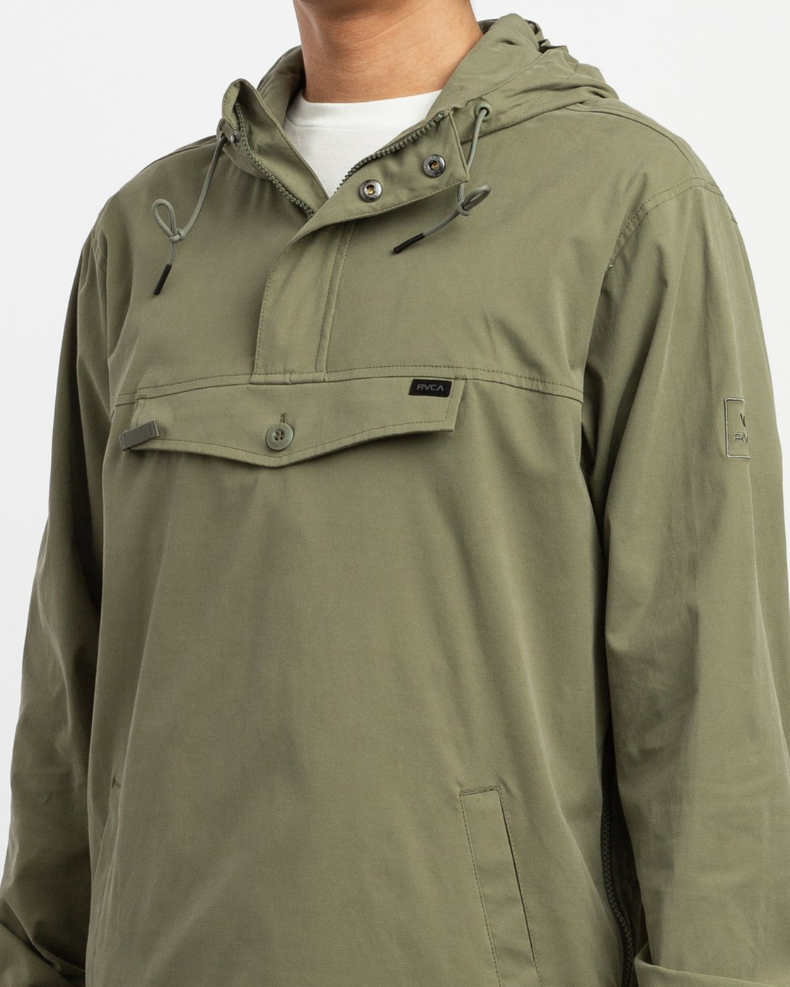 4 On Point Anorak Jacket Brown M701TROP RVCA