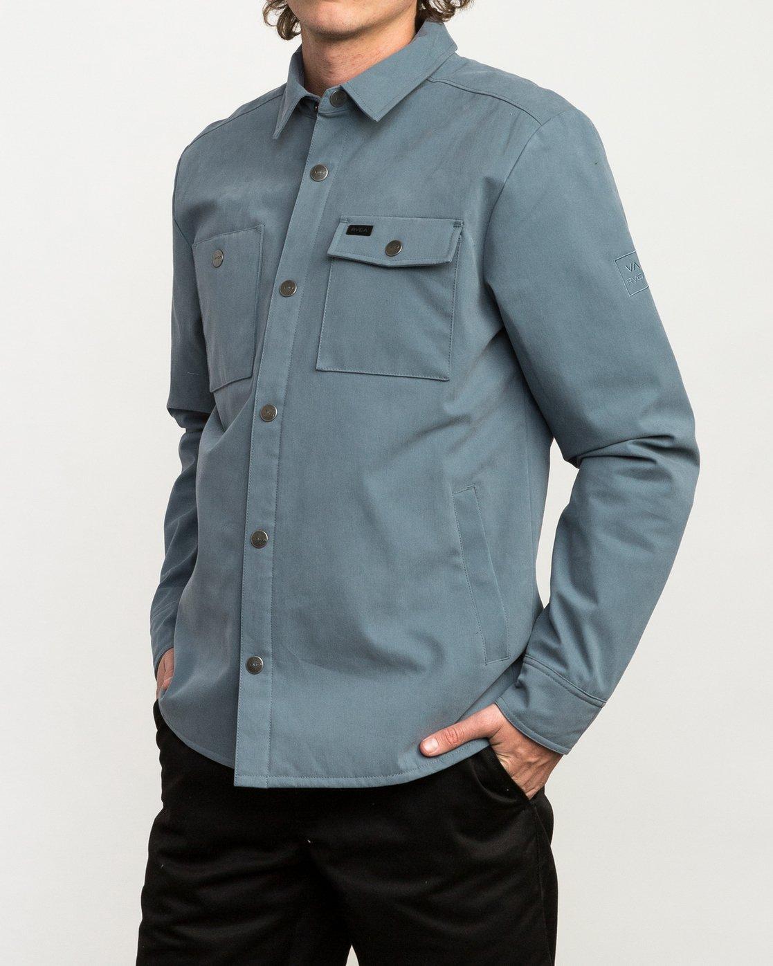 3 Utility Shirt Jacket Blue M708QRUS RVCA