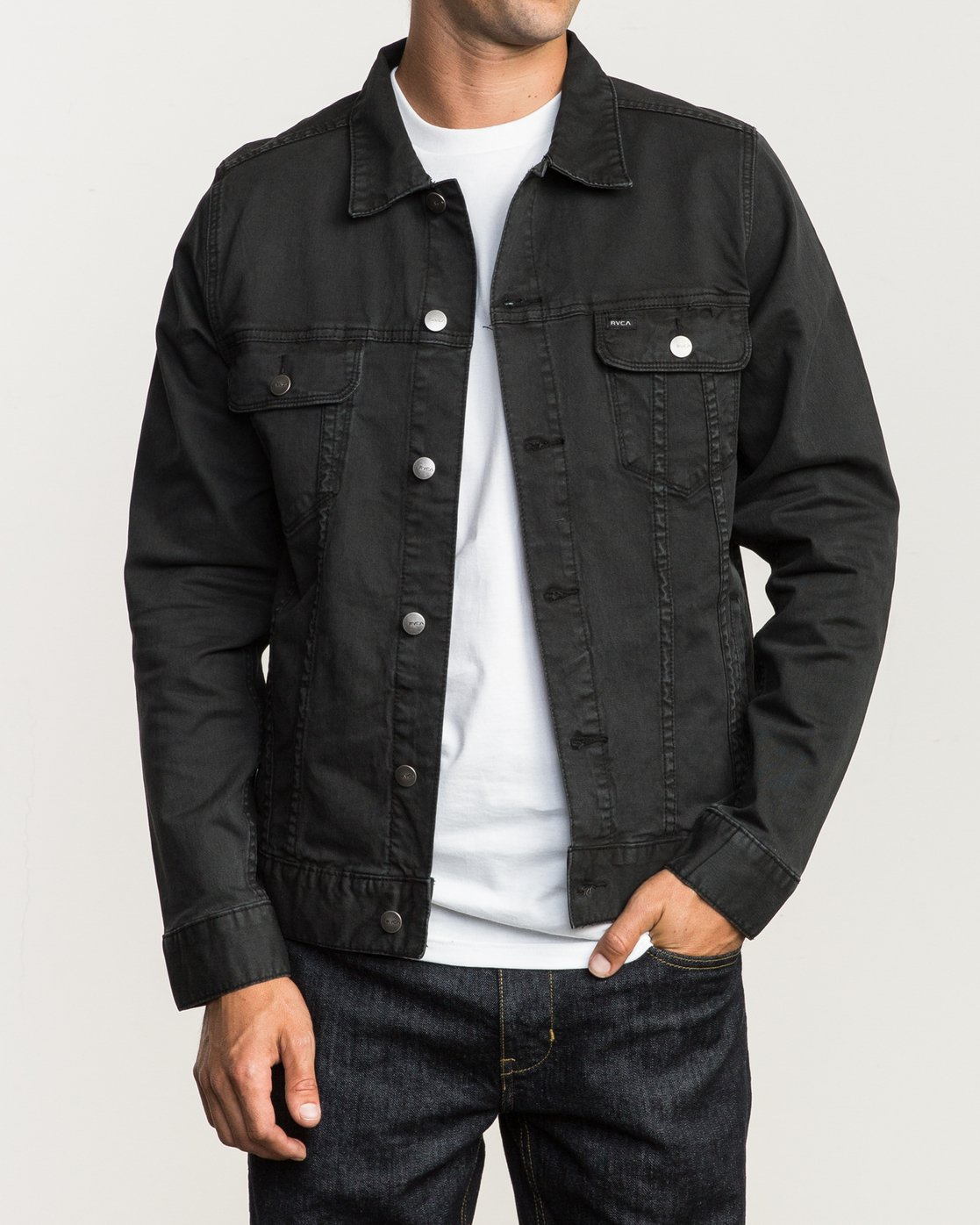 1 Daggers Denim Jacket Black M780NRDJ RVCA