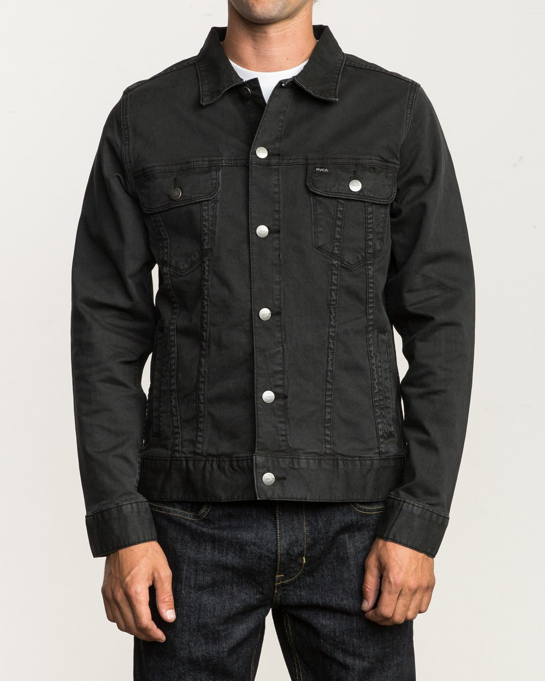 2 Daggers Denim Jacket Black M780NRDJ RVCA