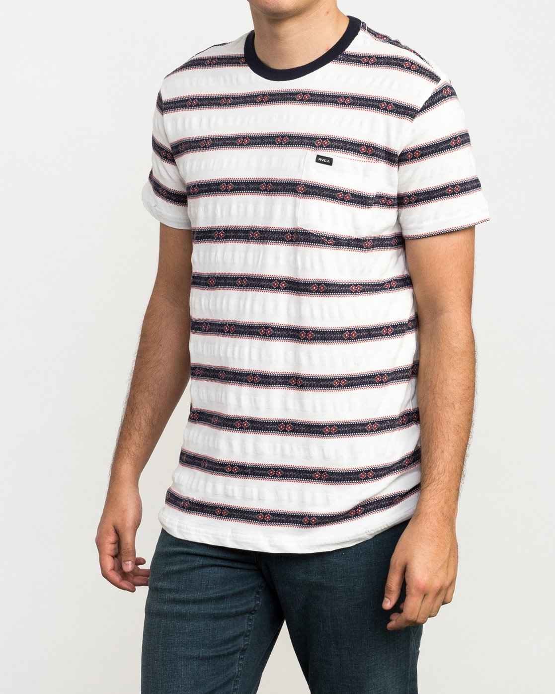 2 Outer Sunset Knit T-Shirt  M902QROS RVCA