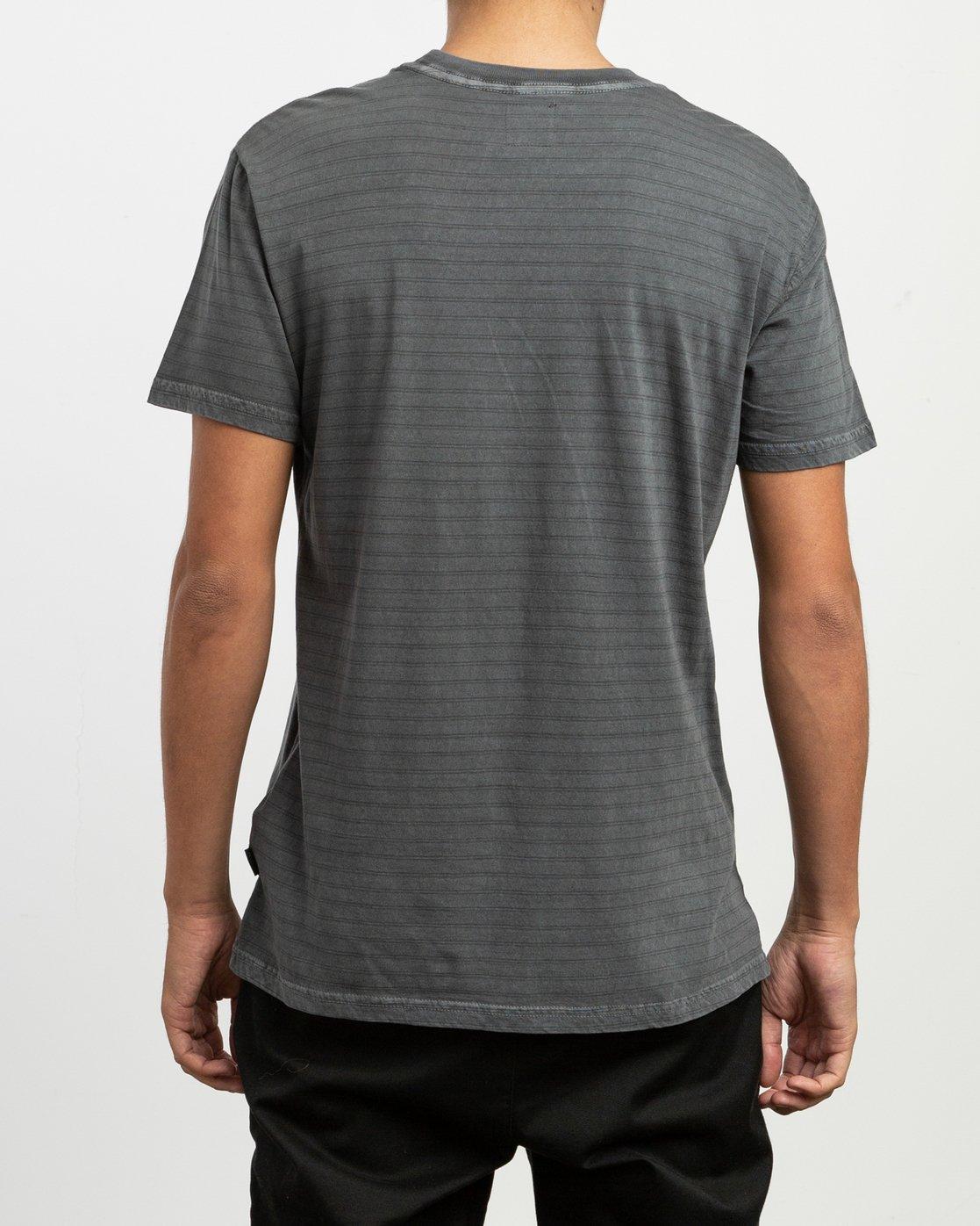 3 Automatic Striped Knit T-Shirt Black M905TRCS RVCA
