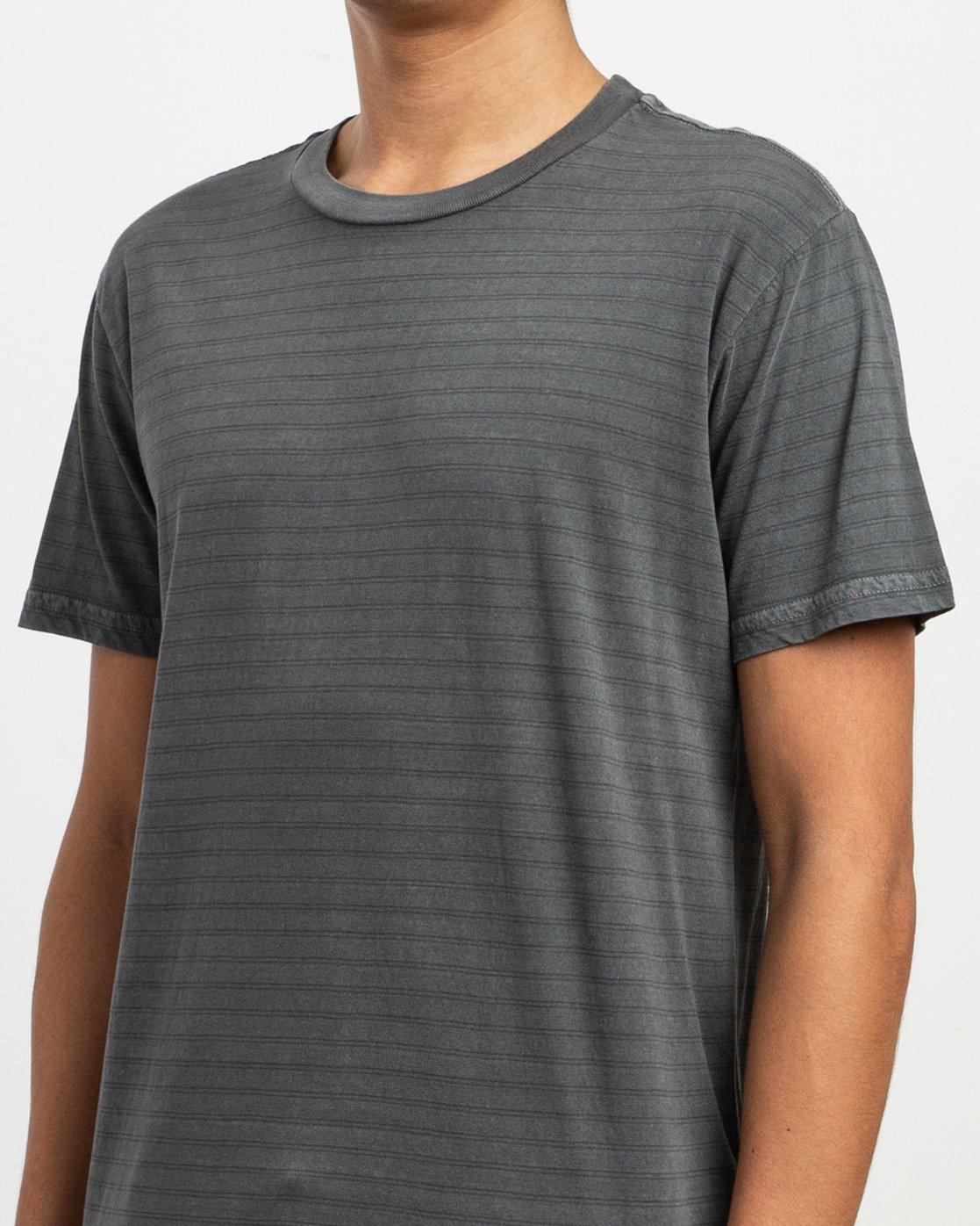 4 Automatic Striped Knit T-Shirt Black M905TRCS RVCA