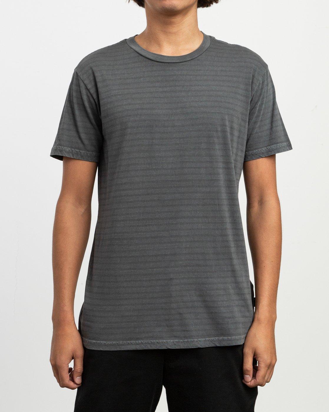 1 Automatic Striped Knit T-Shirt Black M905TRCS RVCA