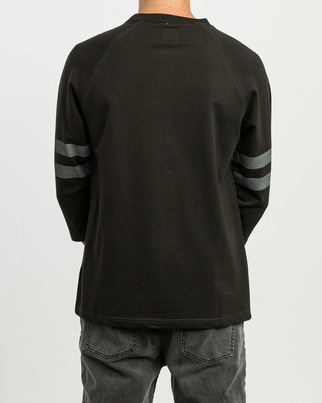 3 Oldham Jersey Shirt Black M906SROJ RVCA