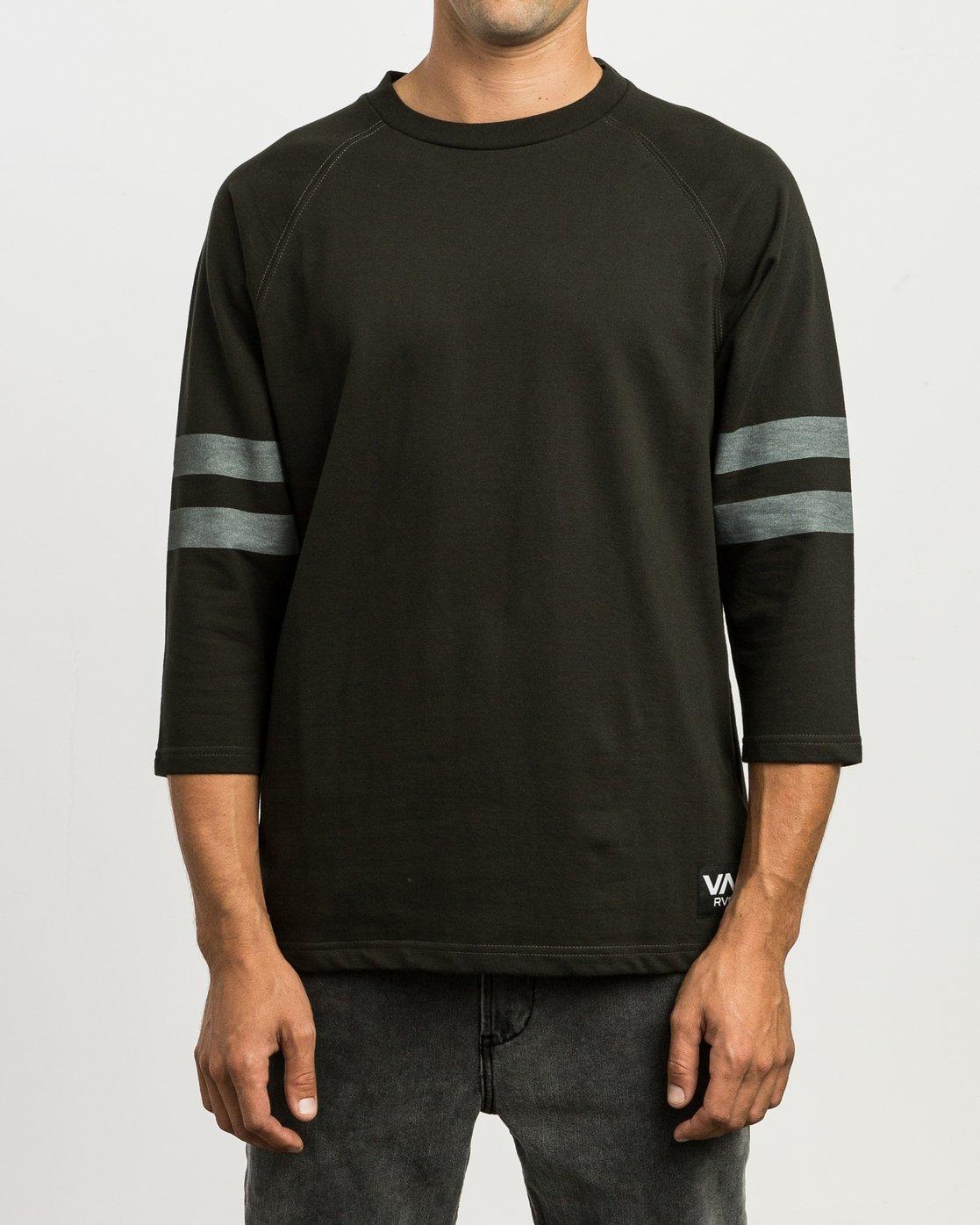 1 Oldham Jersey Shirt Black M906SROJ RVCA