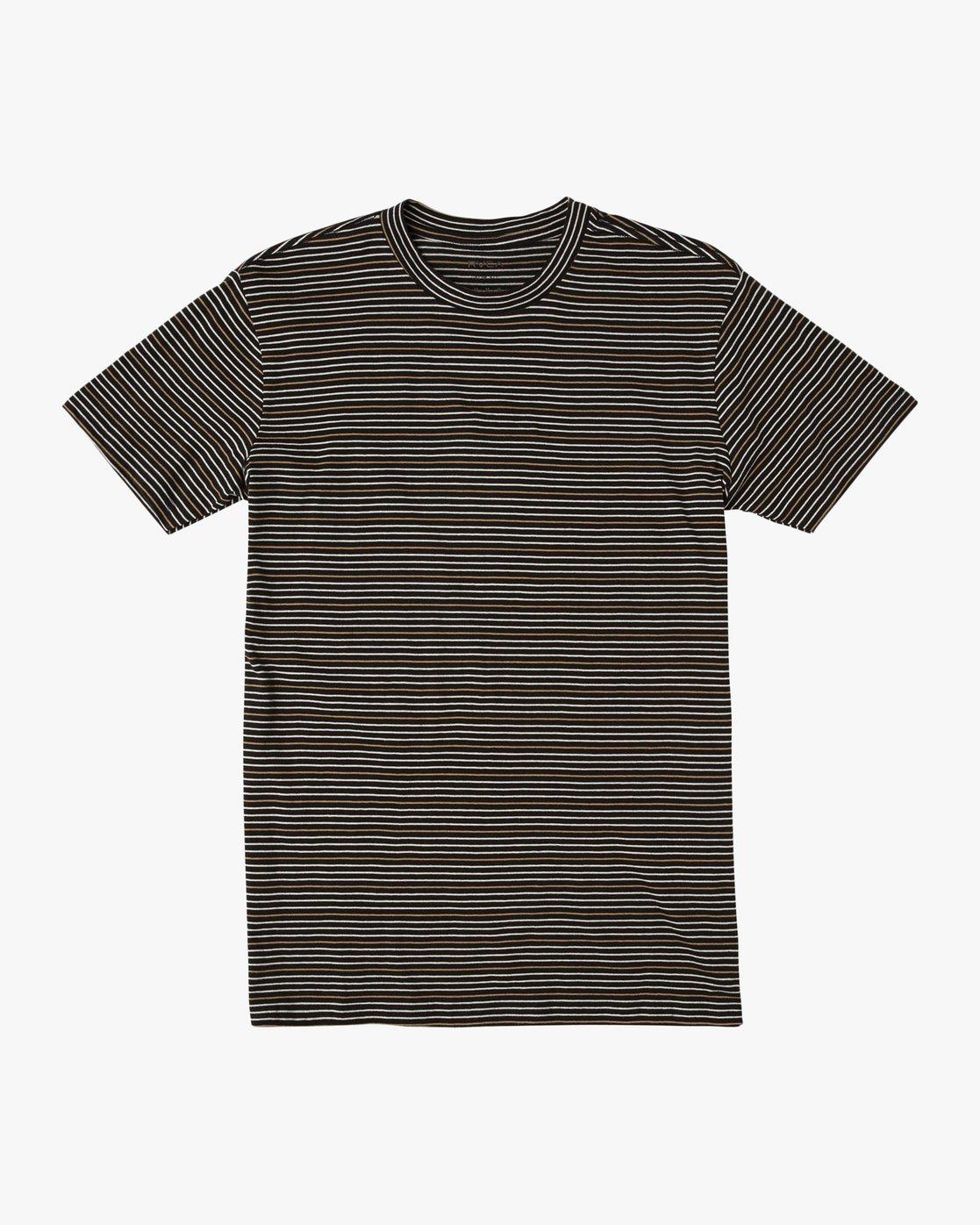 0 Curren Caples Benson Striped T-Shirt Black M908QRBS RVCA