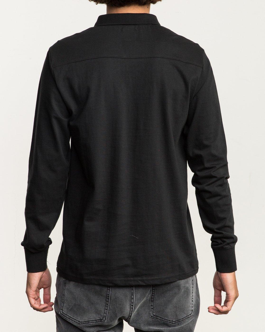 3 Hi Grade Long Sleeve Polo Black M951SRHP RVCA