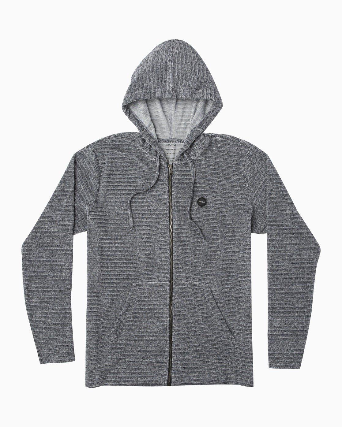 0 Super Marle Zip T-Shirt Hoodie Blue M952QRSM RVCA