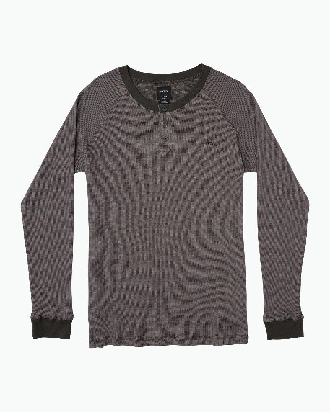 0 Moorside Thermal Henley Shirt Black M954SRMT RVCA