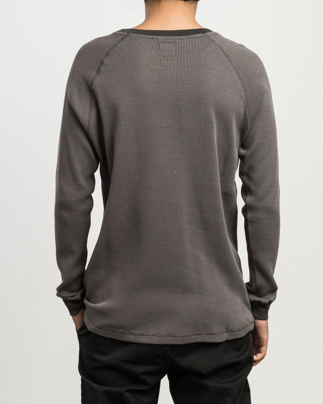 3 Moorside Thermal Henley Shirt Black M954SRMT RVCA
