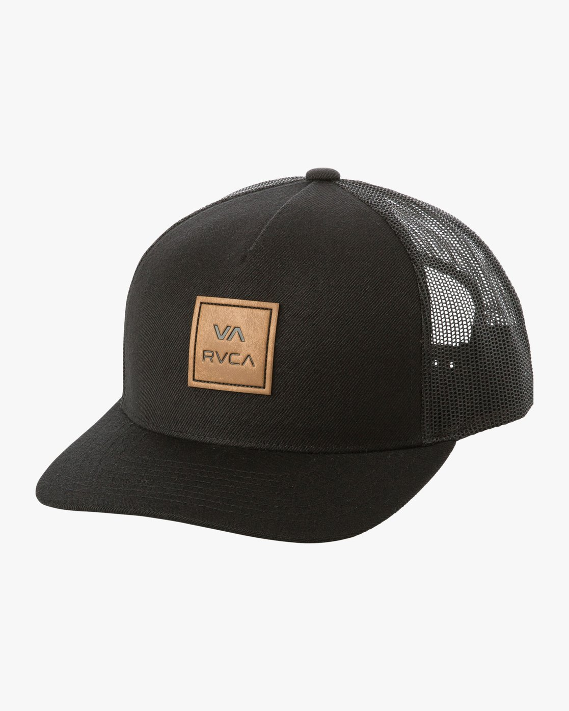 0 VA All The Way Curved Brim Trucker Hat Black MAHWPRVA RVCA 3aebb47ddb7