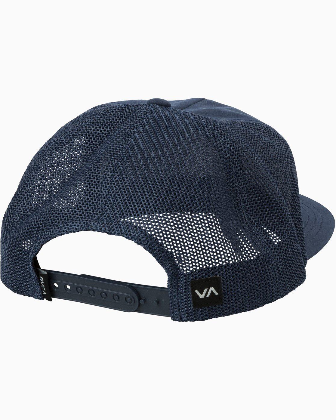 1 VA All The Way Trucker Delux Hat Blue MAHWQRTD RVCA