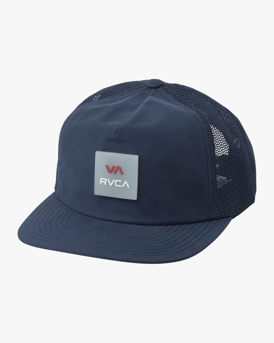0 VA All The Way Trucker Delux Hat Blue MAHWQRTD RVCA