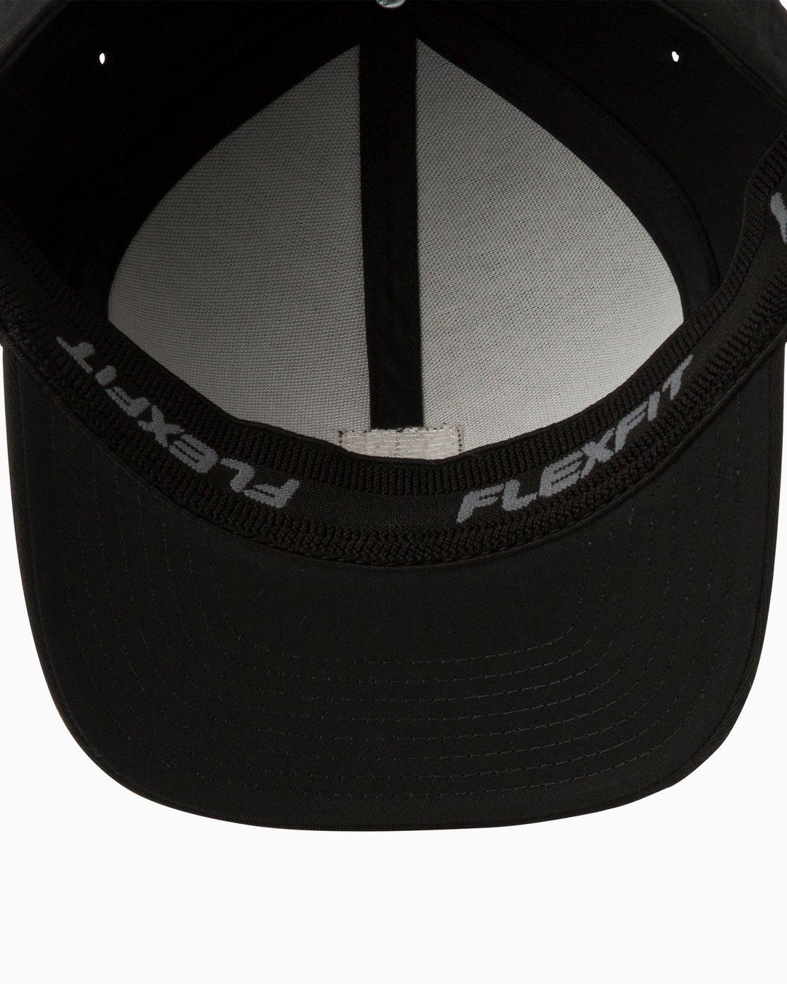 2 Scores Flexfit Hat Black MAHWTRSC RVCA d47421af748