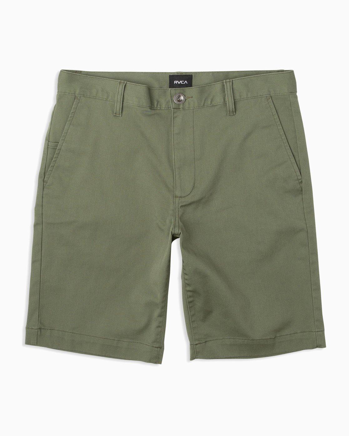 0 Week-End Stretch Shorts Brown MC202WKS RVCA
