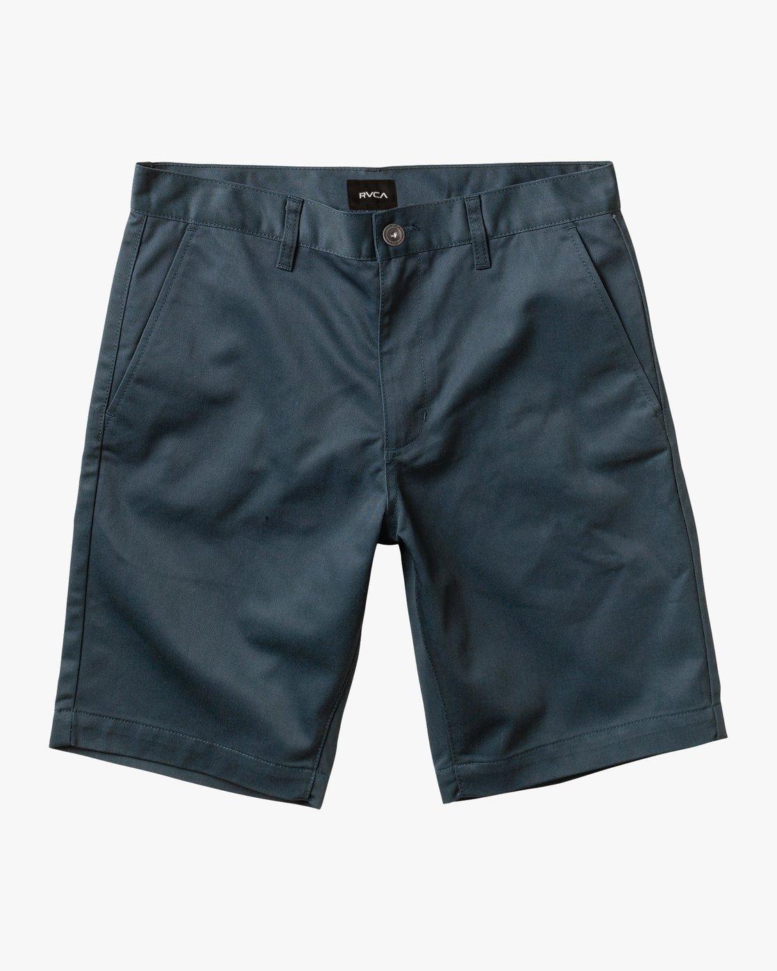 0 Week-End Stretch Shorts Blue MC202WKS RVCA