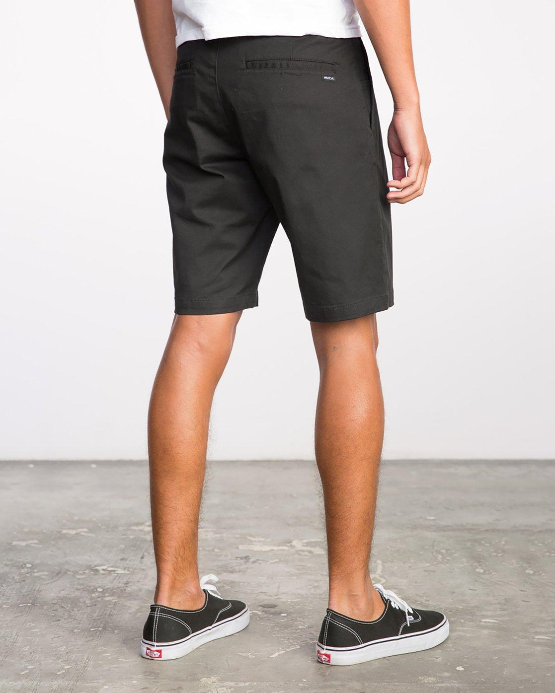 5 Week-End Stretch Shorts Black MC202WKS RVCA