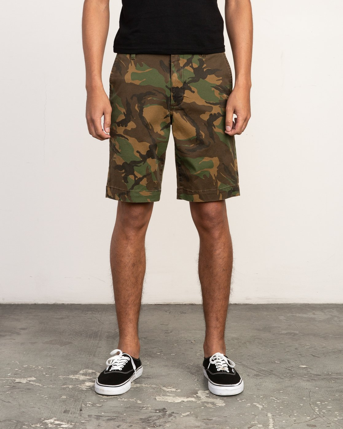 1 Week-End Stretch Shorts Camo MC202WKS RVCA