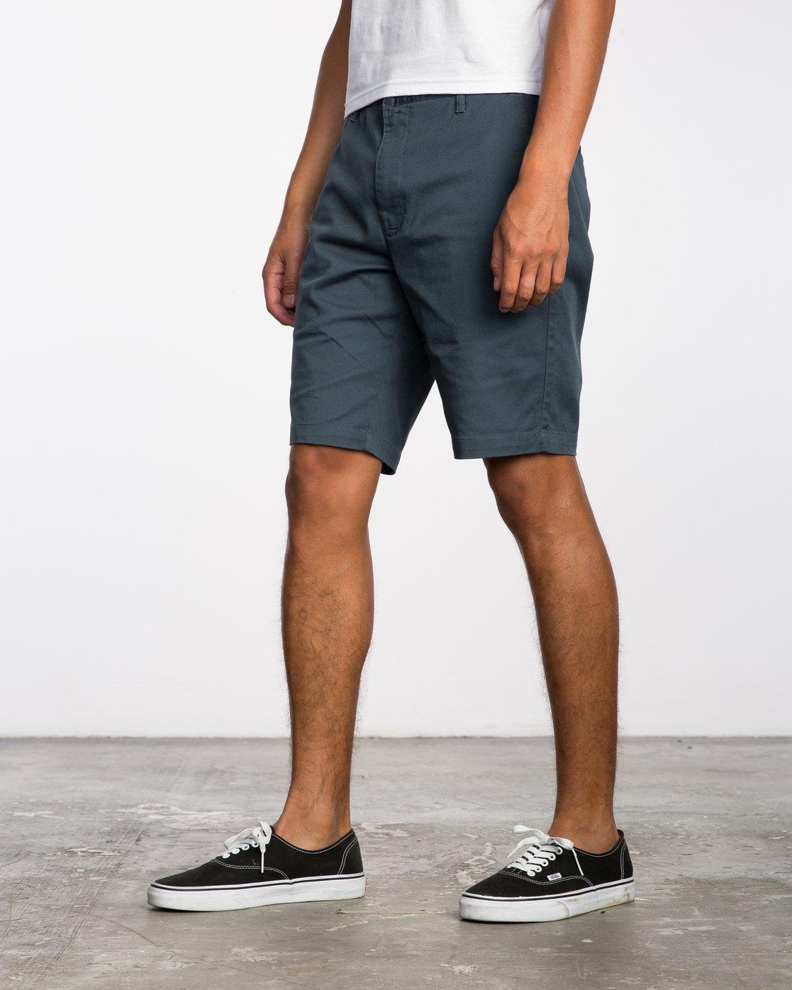 2 Week-End Stretch Shorts Blue MC202WKS RVCA