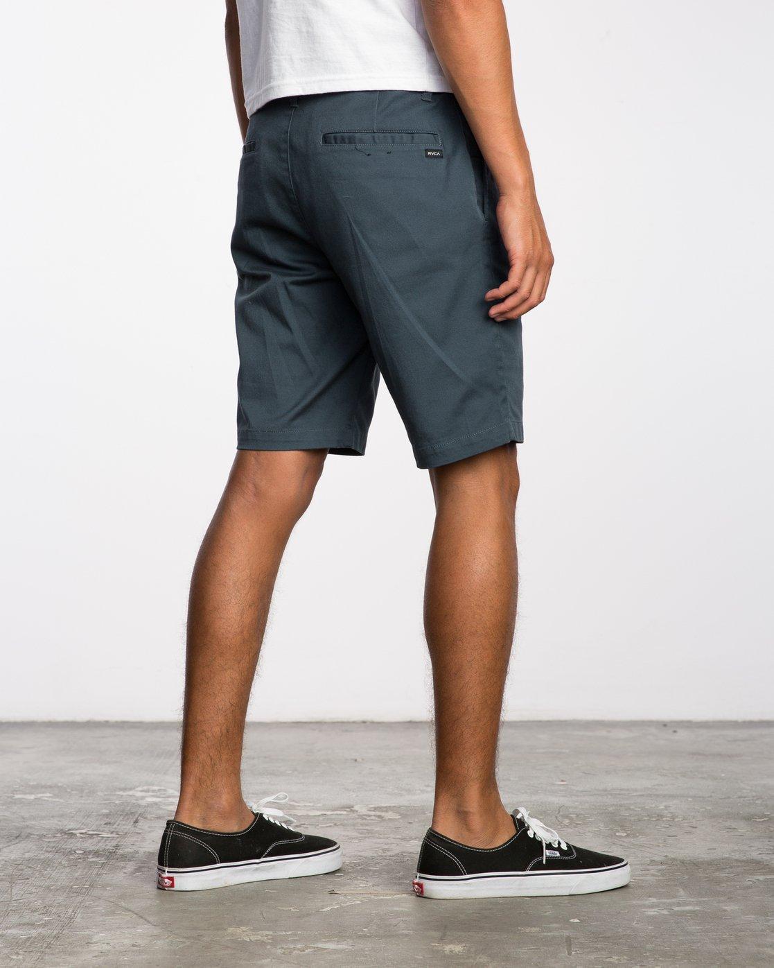 5 Week-End Stretch Shorts Blue MC202WKS RVCA