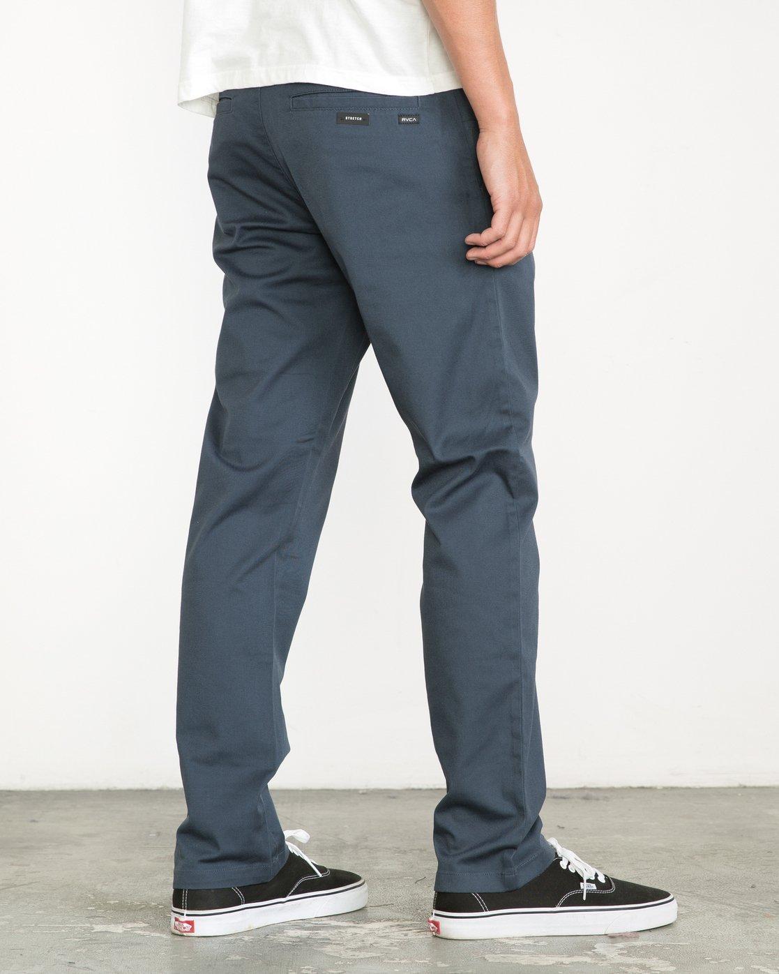 2 Week-end Stretch Pants Blue MC303WST RVCA