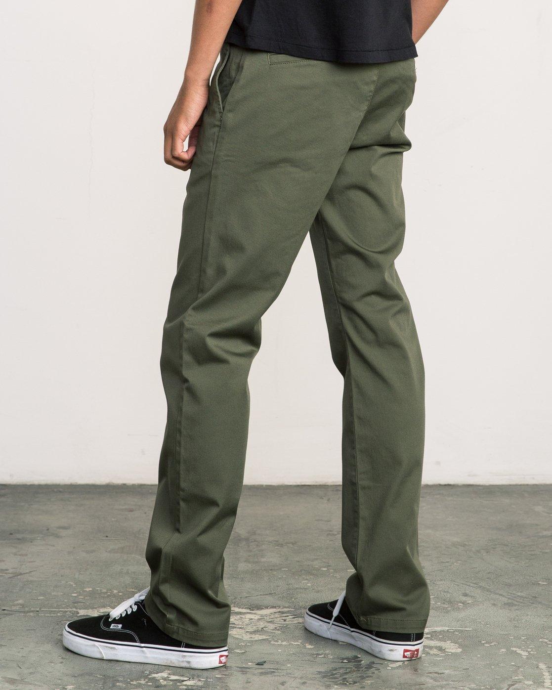 3 Week-end Stretch Pants Green MC303WST RVCA