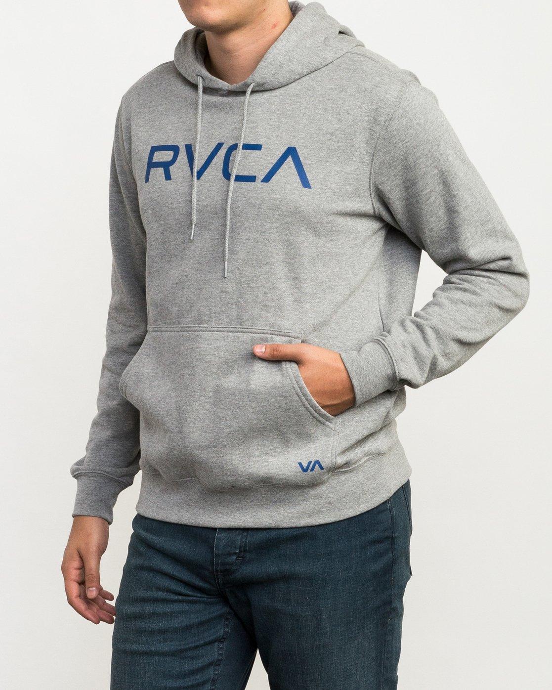 2 Big RVCA Hoodie Grey MF70Q00B RVCA
