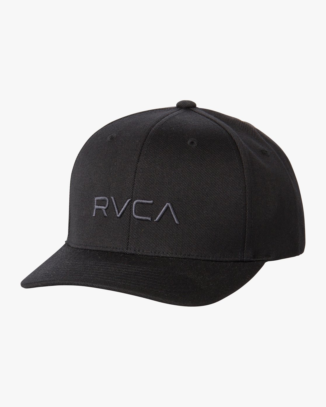 0 RVCA Flex Fit Baseball Hat Black MHAHWRFF RVCA a6a06ce03431