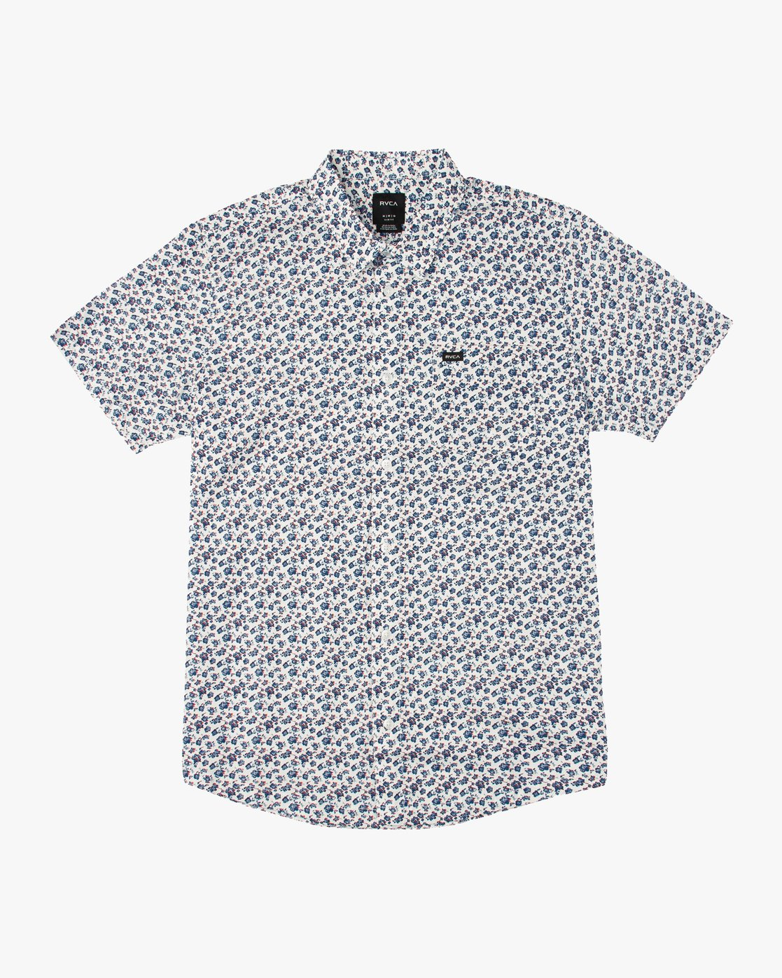 0 Porcelain Printed Short Sleeve Shirt White MK507POR RVCA