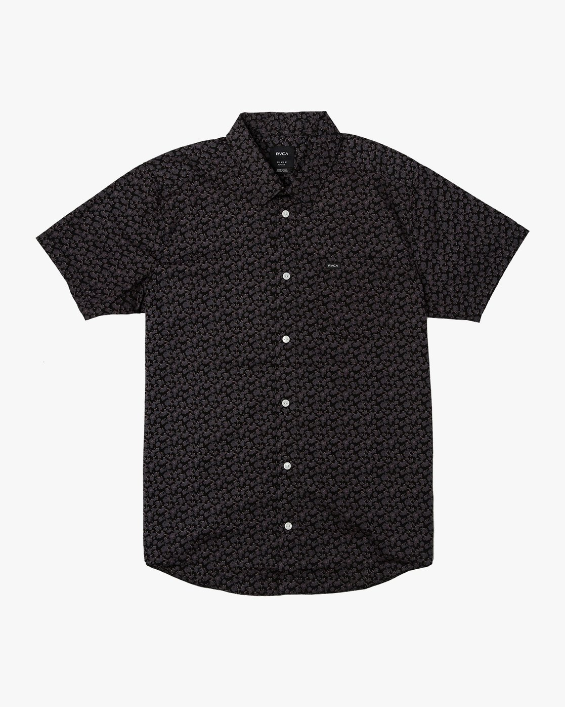 0 Porcelain Printed Short Sleeve Shirt Black MK507POR RVCA
