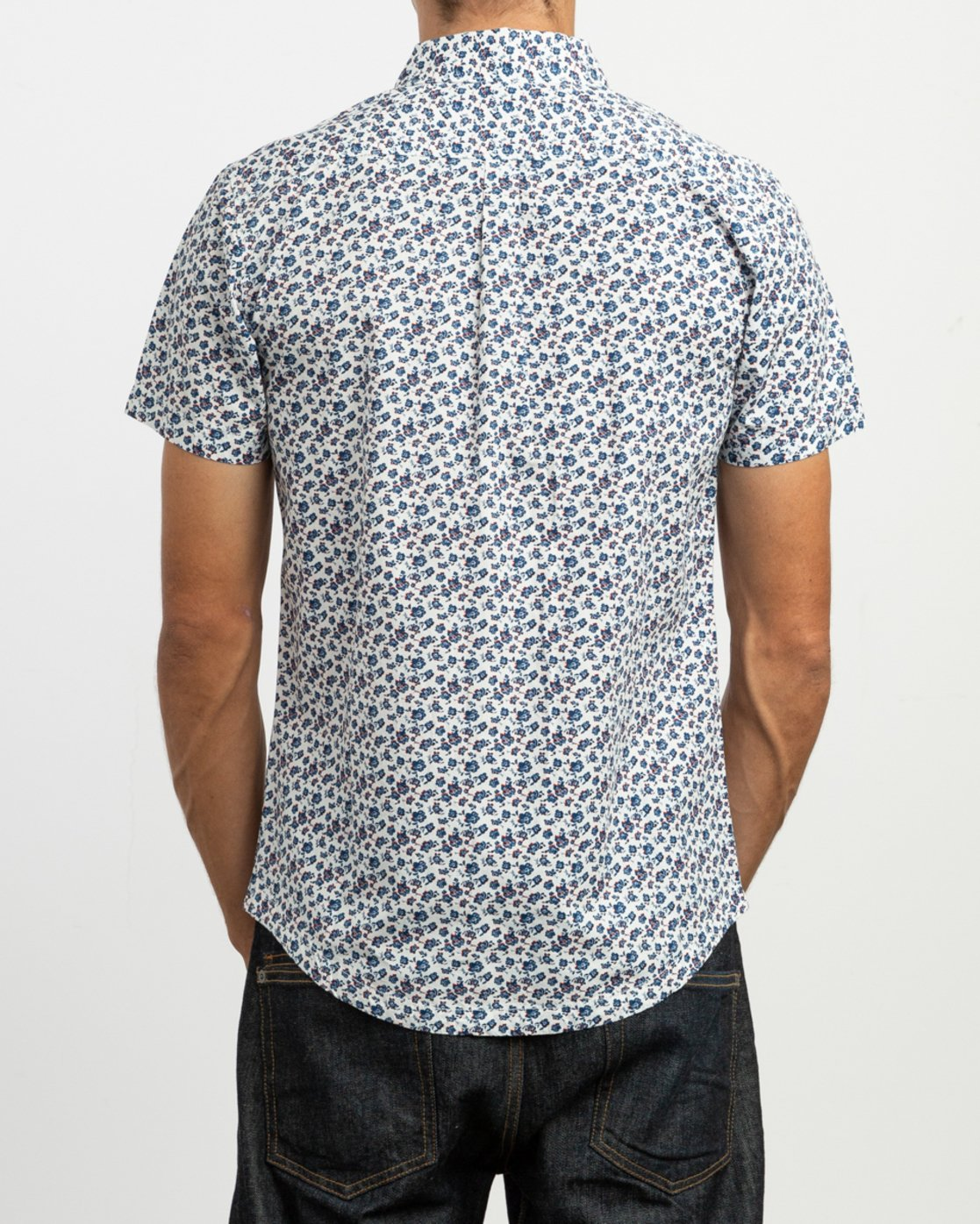 3 Porcelain Printed Short Sleeve Shirt White MK507POR RVCA