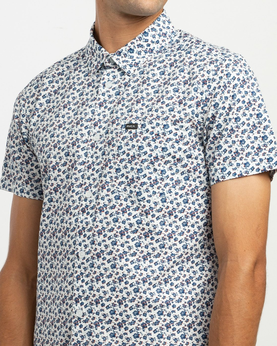 4 Porcelain Printed Short Sleeve Shirt White MK507POR RVCA
