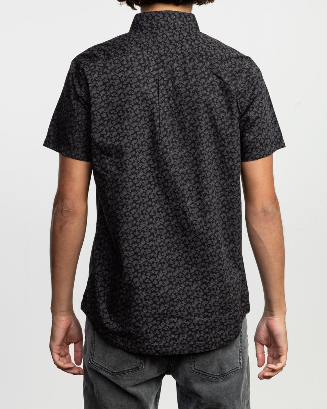 3 Porcelain Printed Short Sleeve Shirt Black MK507POR RVCA