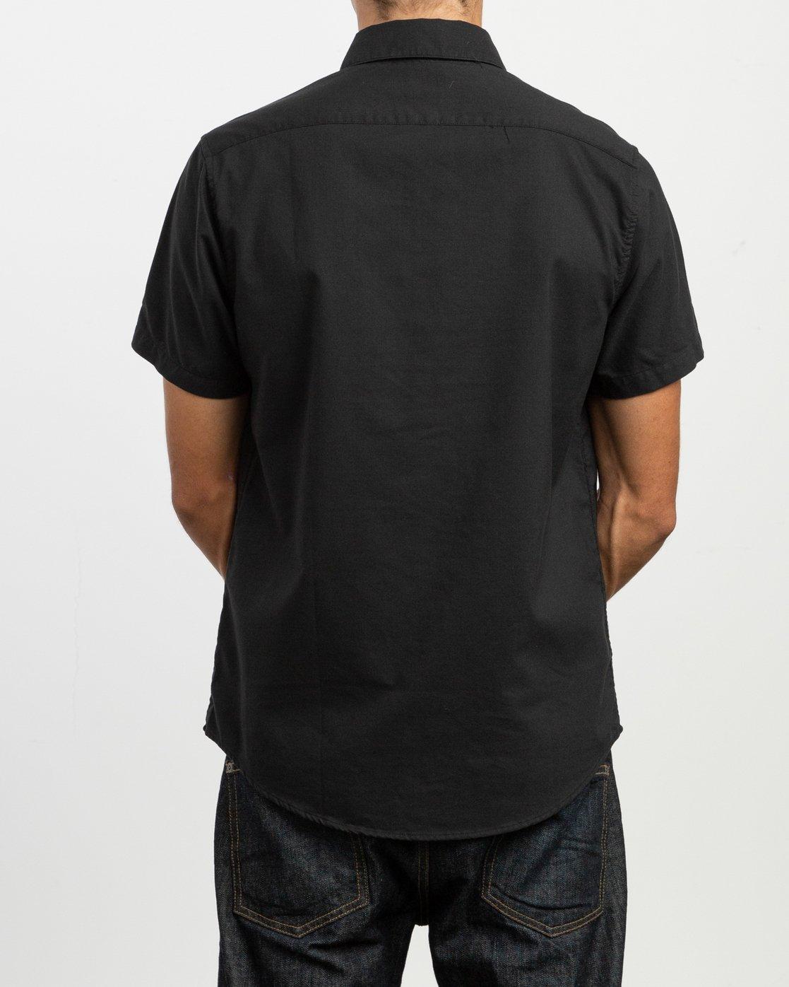 3 That'll Do Stretch Short Sleeve Shirt Black MK515TDS RVCA