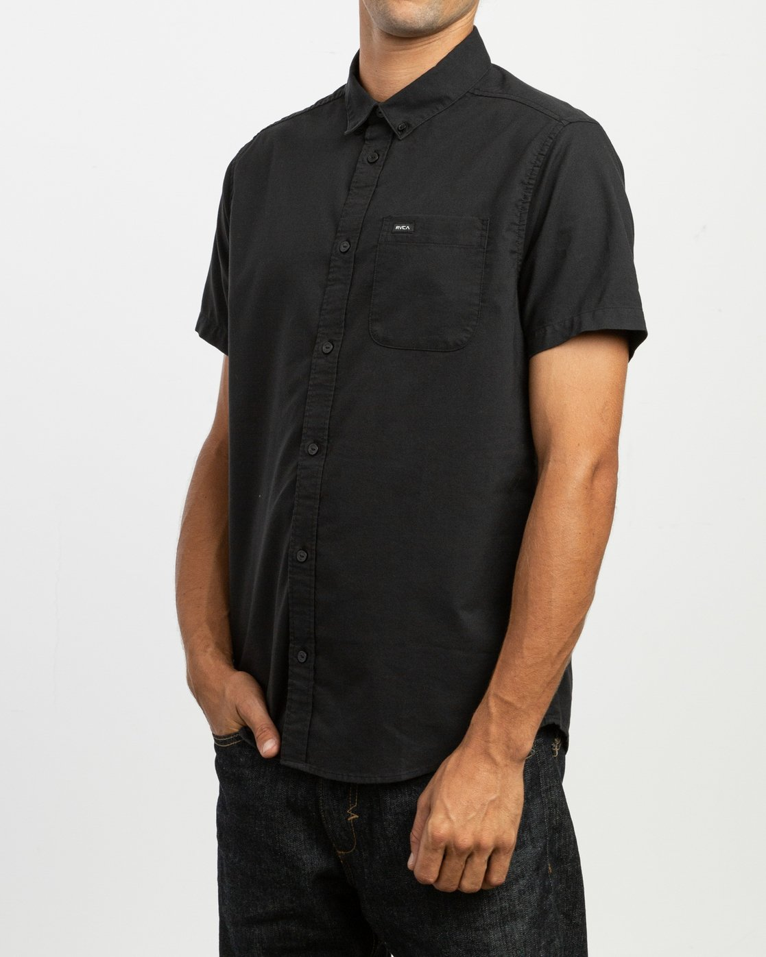 2 That'll Do Stretch Short Sleeve Shirt Black MK515TDS RVCA
