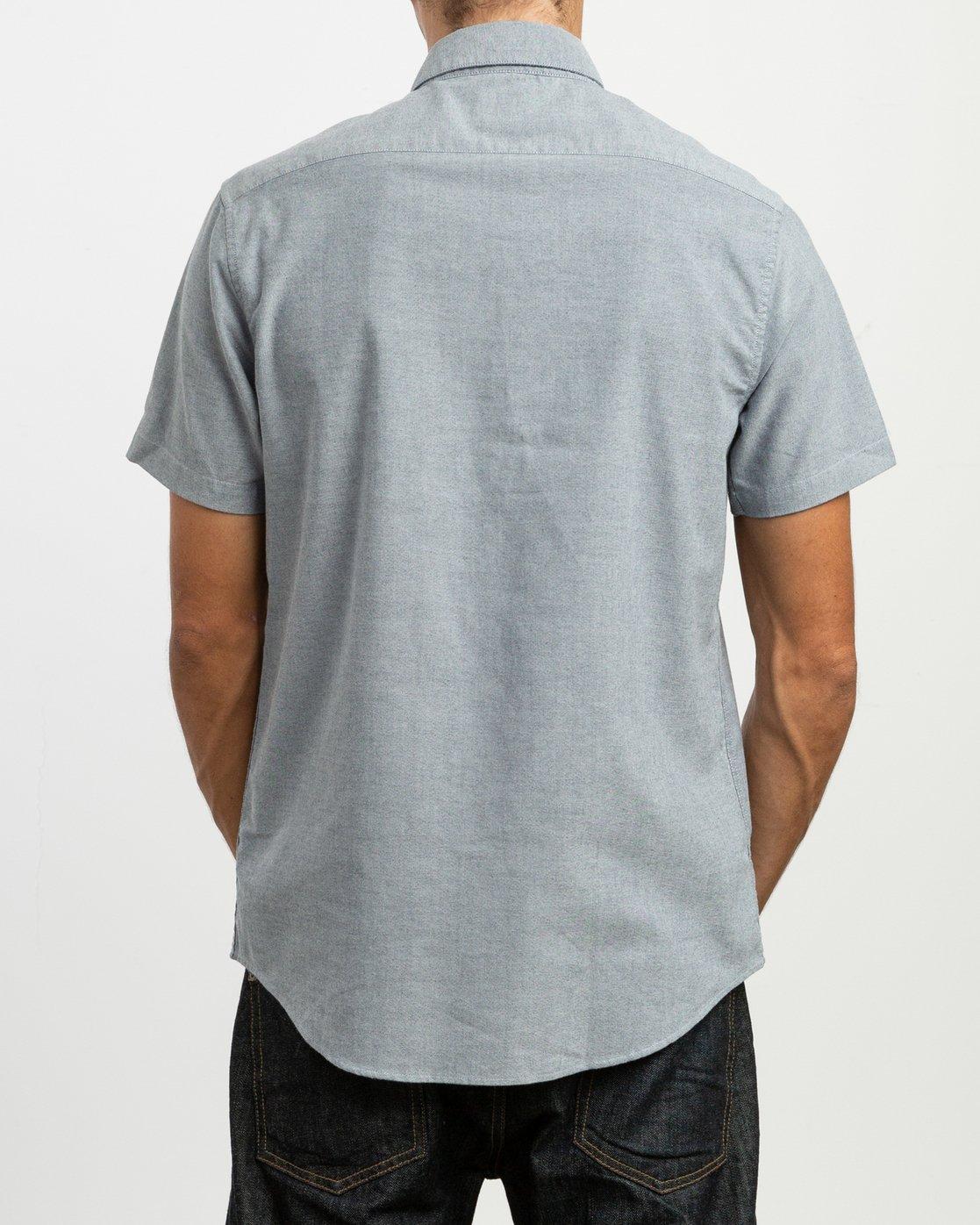 3 That'll Do Stretch Short Sleeve Shirt Blue MK515TDS RVCA