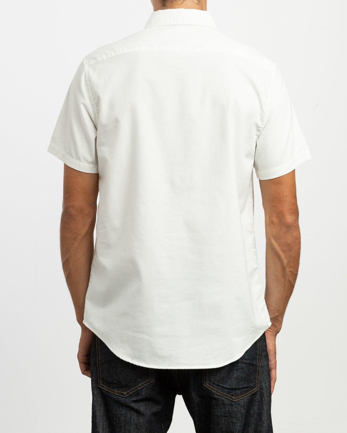 3 That'll Do Stretch Short Sleeve Shirt White MK515TDS RVCA