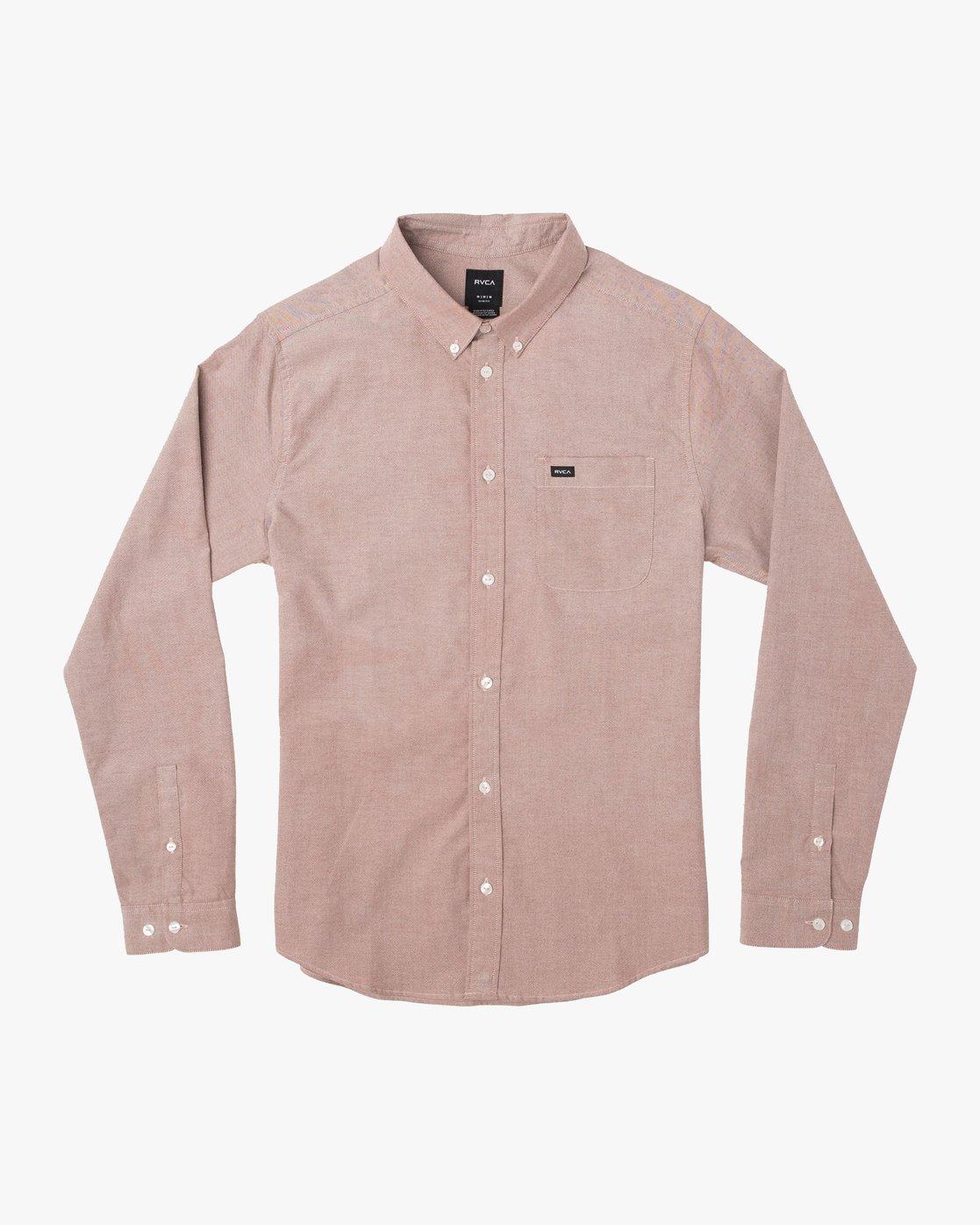 0 That'll Do Stretch Long Sleeve Shirt Red ML501TSL RVCA