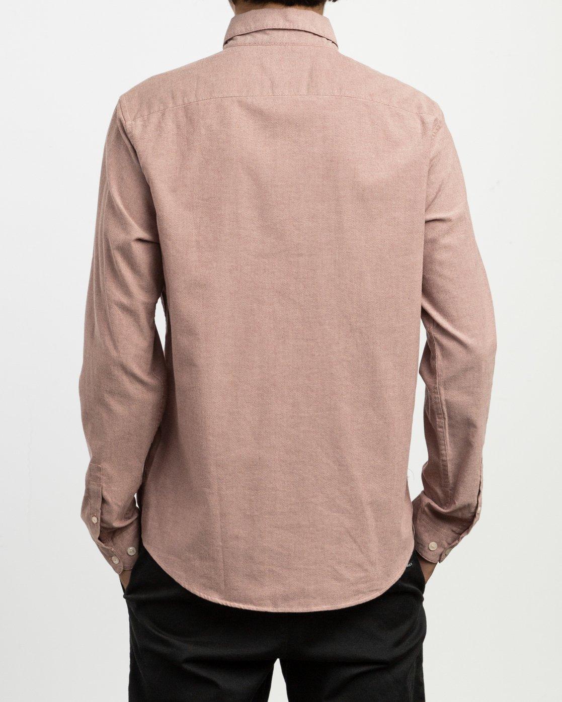 3 That'll Do Stretch Long Sleeve Shirt Red ML501TSL RVCA