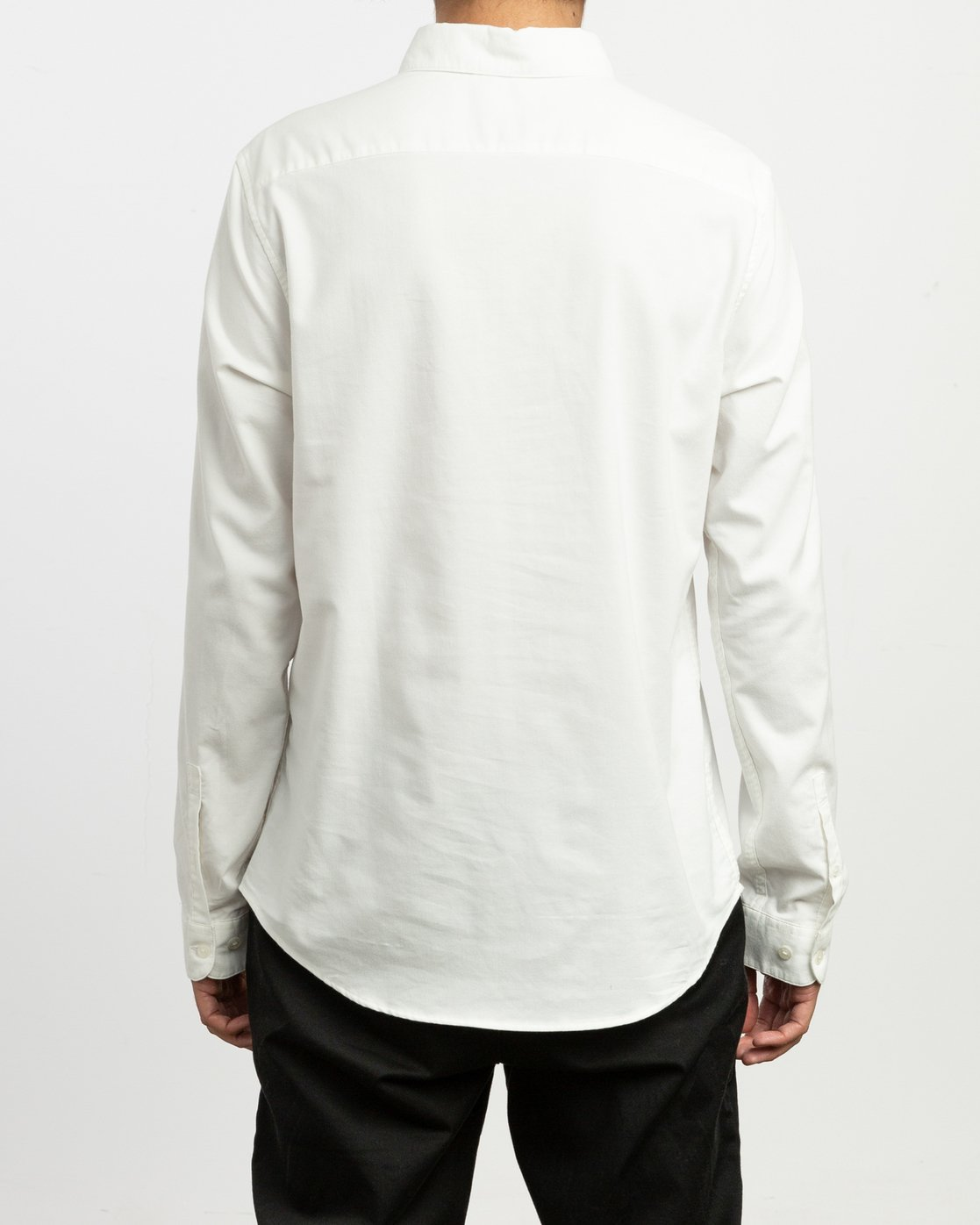 3 That'll Do Stretch Long Sleeve Shirt White ML501TSL RVCA