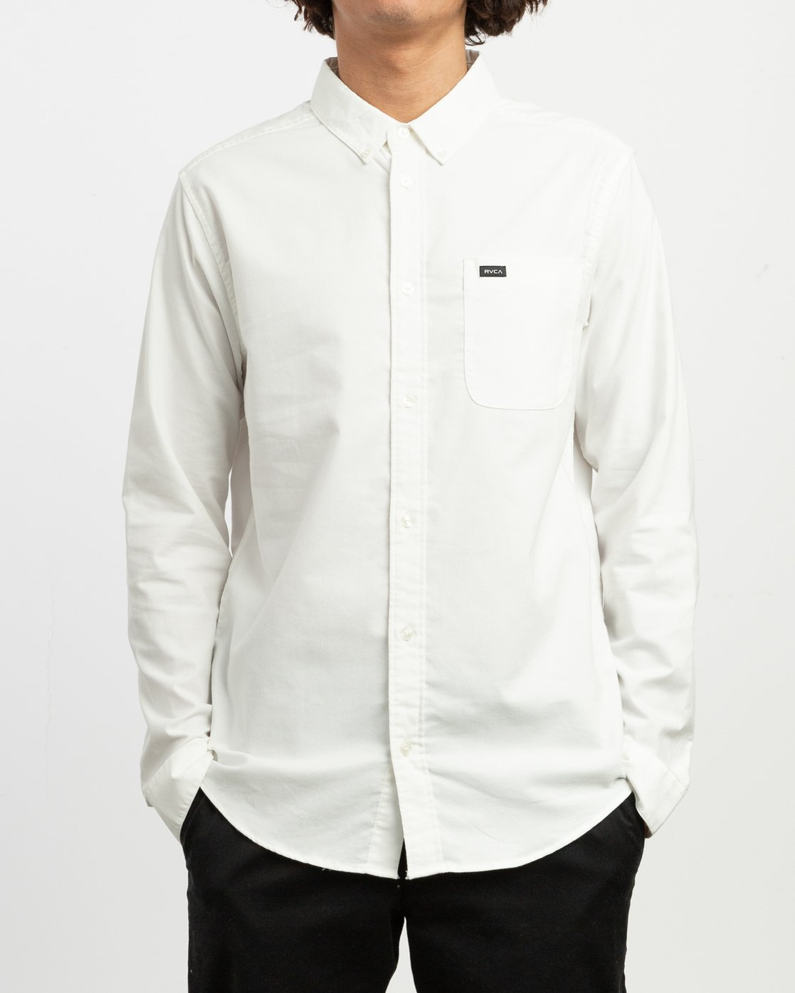 1 That'll Do Stretch Long Sleeve Shirt White ML501TSL RVCA