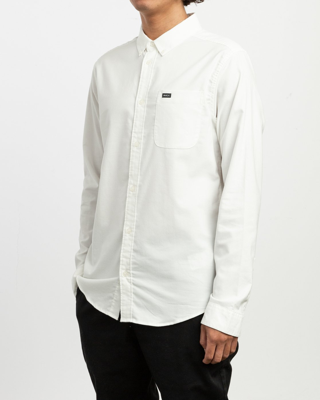 2 That'll Do Stretch Long Sleeve Shirt White ML501TSL RVCA