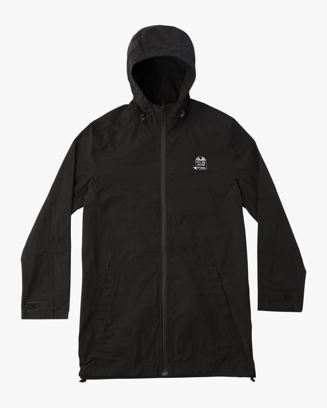 0 Espo Hooded Trench Coat Black ML702ESP RVCA