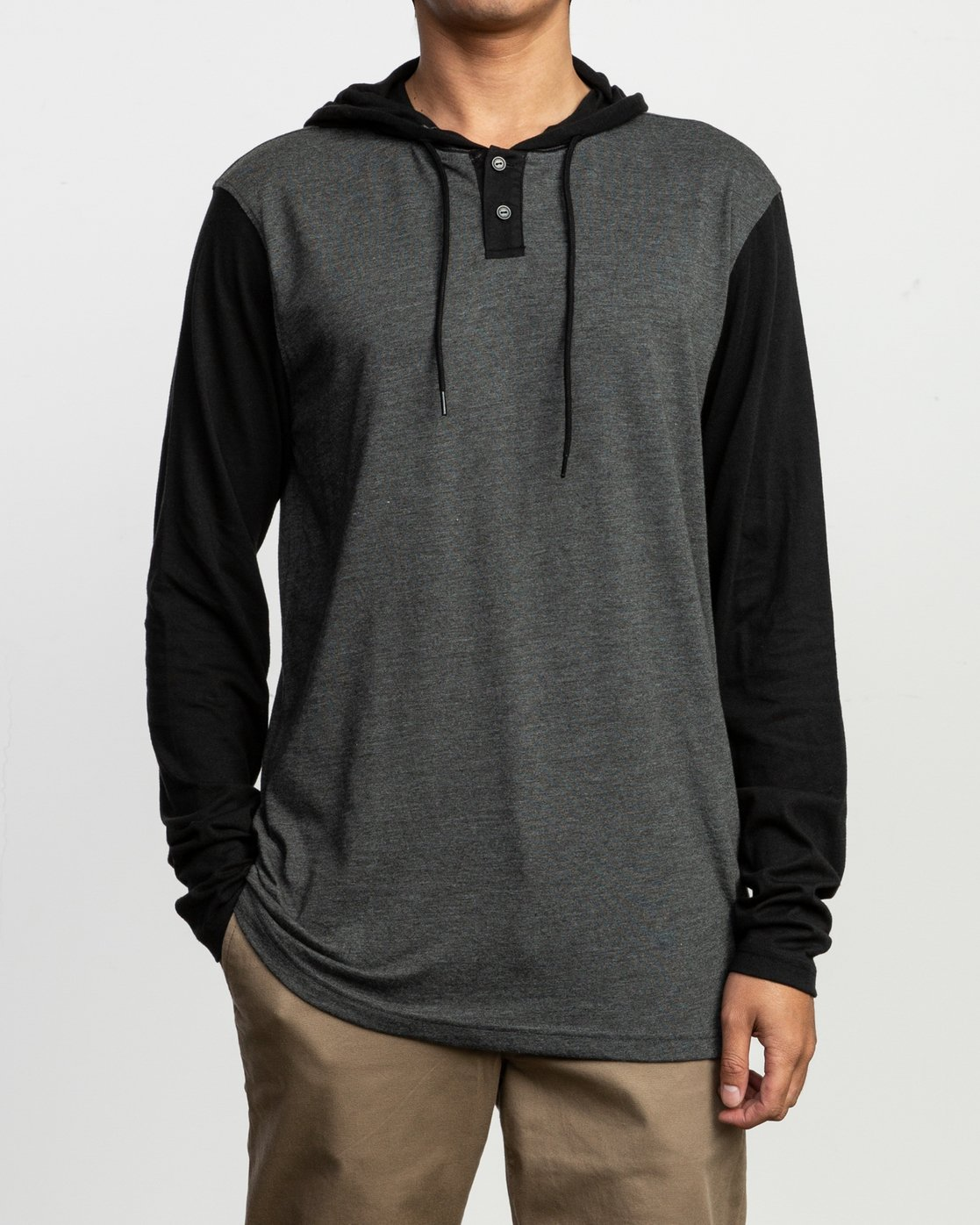1 Pick Up Hooded Knit Shirt Grey ML916PIH RVCA