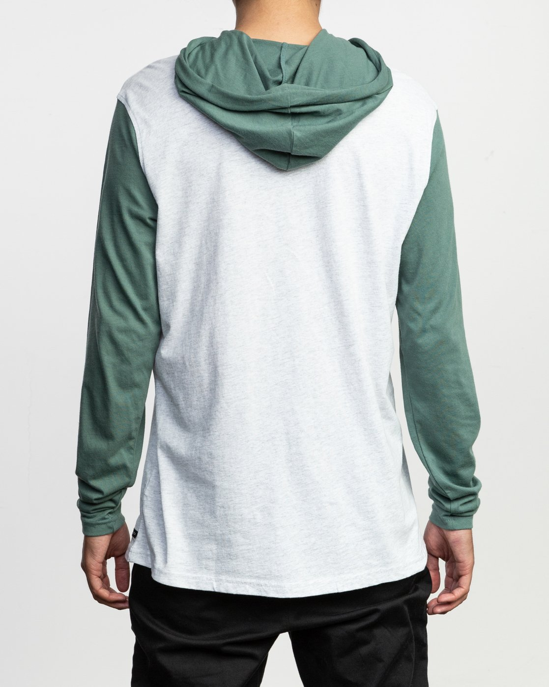 3 Pick Up Hooded Knit Shirt Green ML916PIH RVCA