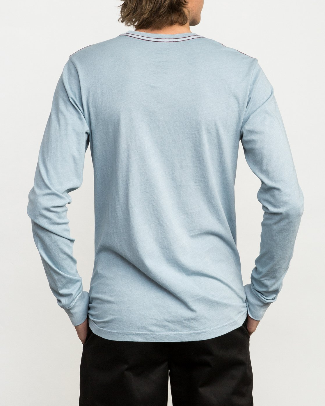 3 PTC Pigment Long Sleeve T-Shirt Blue ML921PPL RVCA